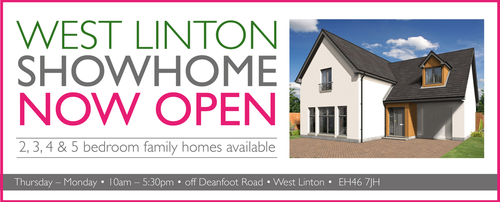 West Linton Showhome opened Hero Panel