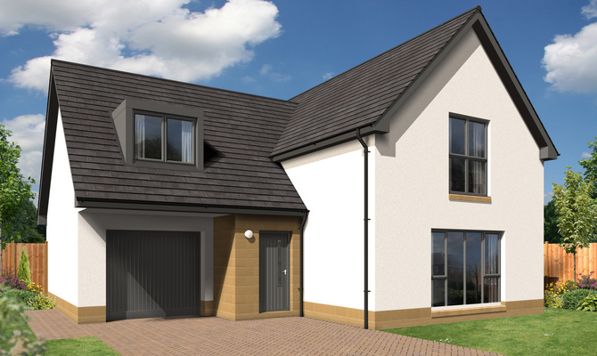 Culbin contemporary 4 bedroom detached uddingston for Detached sunroom