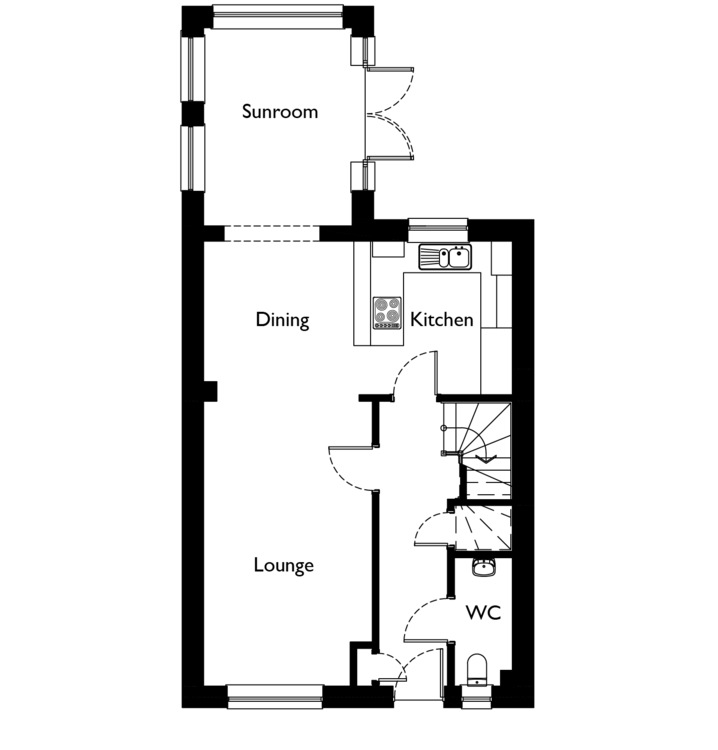 Cupar 3 bedroom dykes of gray dundee springfield for Sunroom floor plans