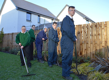 Firpark Secondary School Horticulture Group at Motherwell Showhome