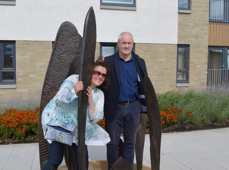 Convener of Dundee City Council   s City development Committee  Lynne Short with Public Artist  Jeremy Cunningham