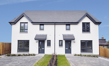 Plot 700 Cupar  exterior zoomed in  bluest sky