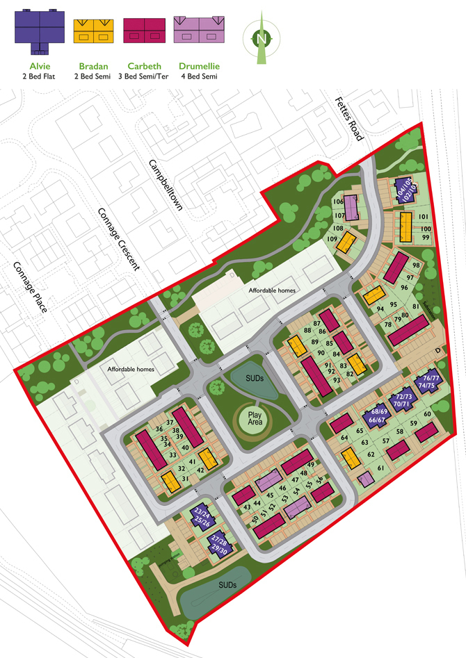 Ardersier Site Plan Sept BIG NUMBERS siteplan EDIT